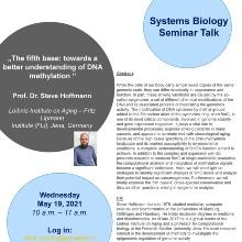 Announcement of the talk of Prof. Dr. Steve Hoffmann, Leibniz-Institute on Aging – Fritz Lipmann Institute (FLI), Jena