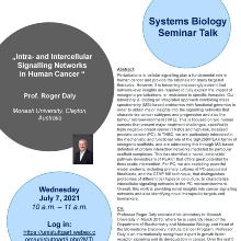 Announcement of the Talk of Prof. Roger Daly