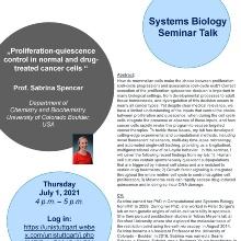 Announcement of Prof. Sabrina Spencer, University of Colorado Boulder, USA