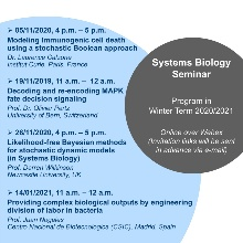 SysBio-Seminar Poster for the Program in Winter Term 2020-2021